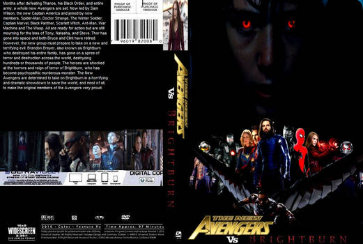 The New Avengers vs. Brightburn DVD cover