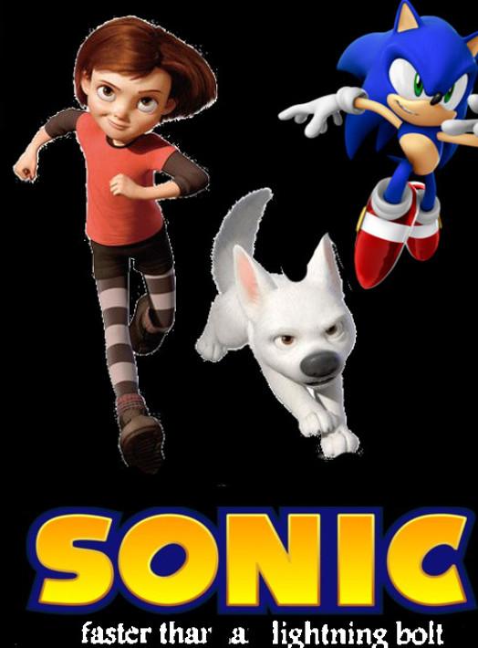 Sonic Faster Than A Lightning Bolt Poster By Steveirwinfan96 On Deviantart
