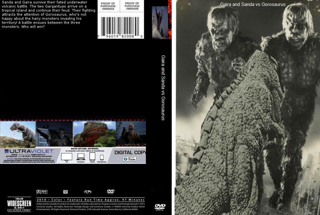 Gaira and Sanda vs Gorosaurus DVD cover