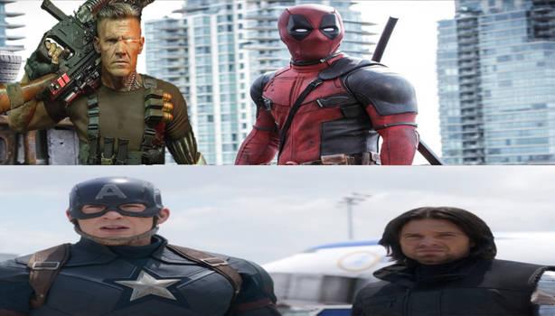 Deadpool Cable Vs Captain America Winter Soldier