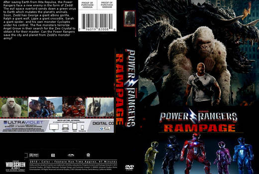 Power Rangers Rampage DVD cover