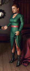 The Girl with the emerald dress... by ergin3d