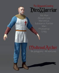 DireWarrior - Medieval Archer by ergin3d