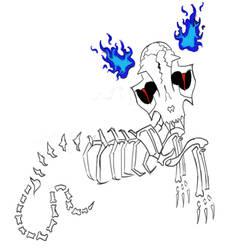Skeleton's Cat by SweetShark