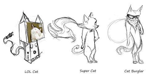 LOL Cat,Super Cat,Cat Burglar by SweetShark