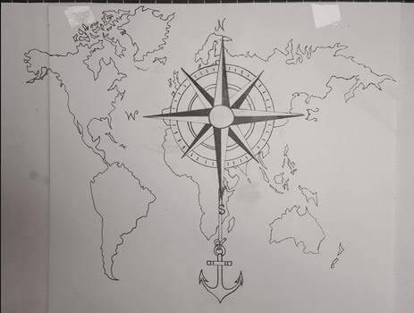 Tattoo design compass