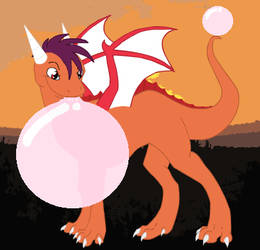 The Dragons Bubblegum by SuperdragonFeuragon