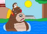 I`ll swim with you, Bear Buddy