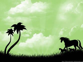 Pony Paradise - green
