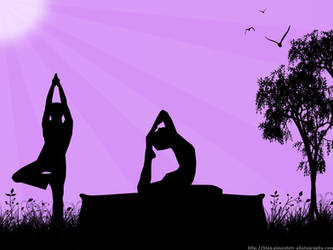 Yoga in the Morning Wallpaper