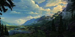 Simple landscape, valley