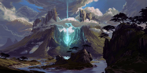 Mountains and clouds and a bit of magic