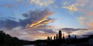 Sunset clouds study