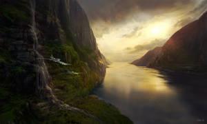 Landscape cliffs study