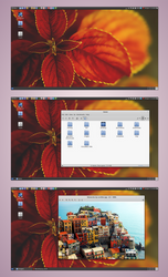 Cinnamon 1.8 on Crunchbang Waldorf - Debian 7 by nekron29