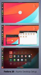 Numix Desktop Setup - Fedora 20 by nekron29