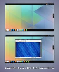 KDE 4.13 - Arch GNU Linux - QtCurve by nekron29