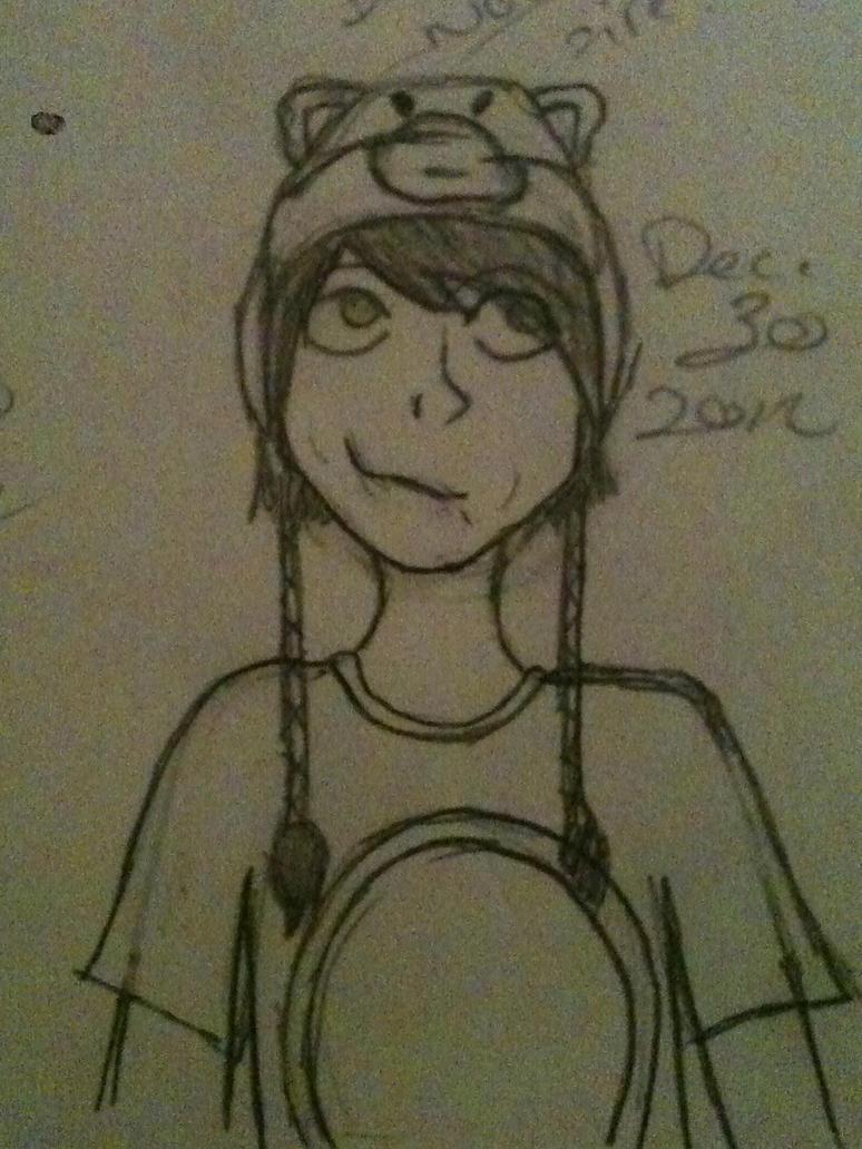 Dan in Llama Hat by OceanSunrise32
