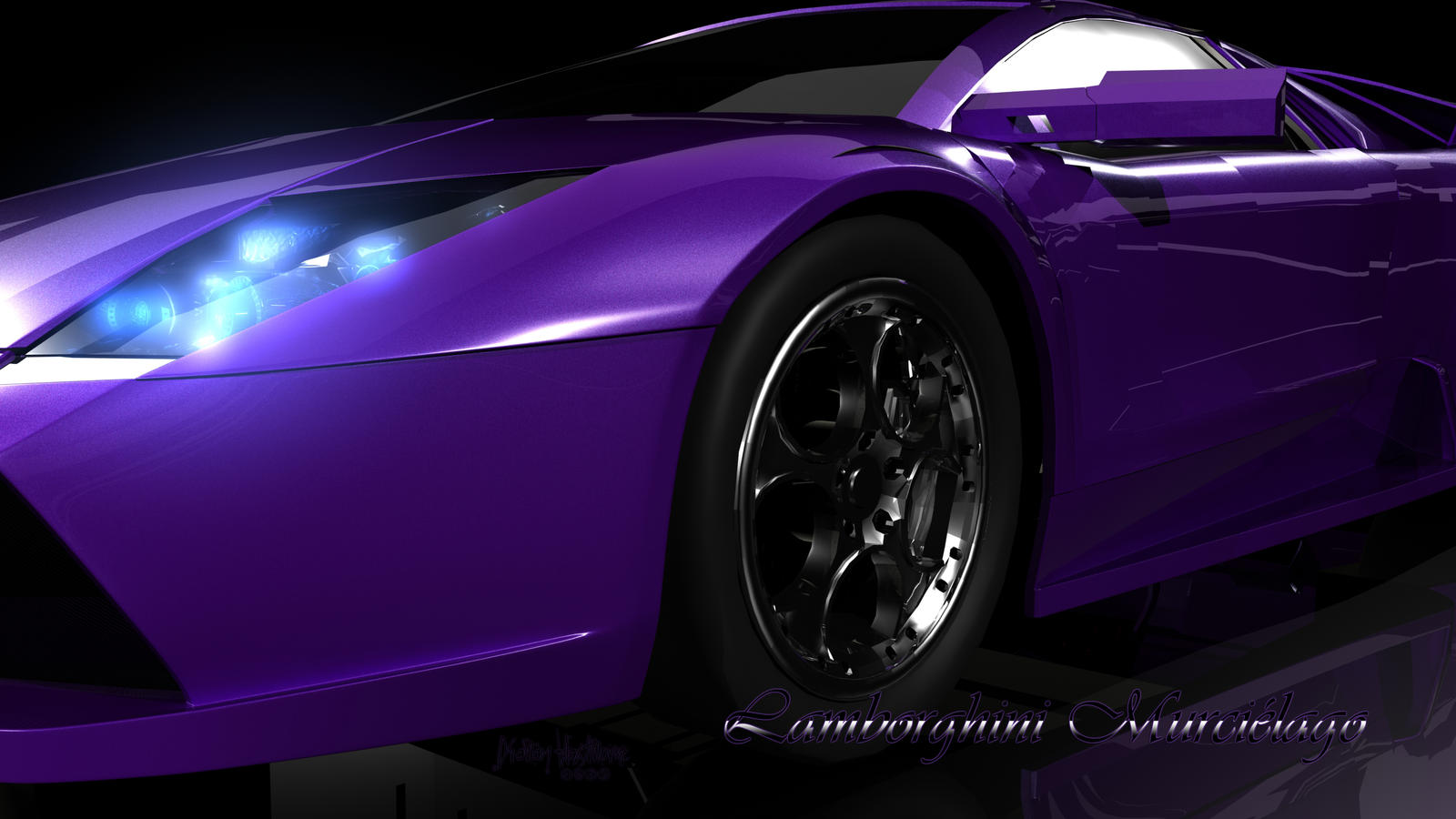 Purple Lamborghini Wallpaper