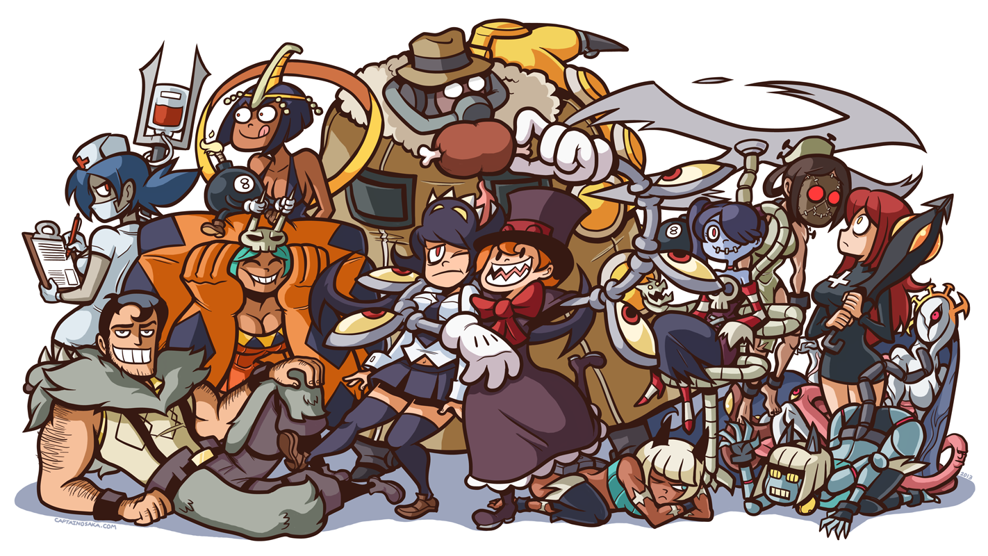 all them skullgirls by captainosaka