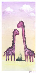Paint Canvas: Giraffes by ScienceIsHardcore