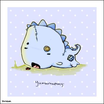 The Dinosaur, The Ladybug by ScienceIsHardcore