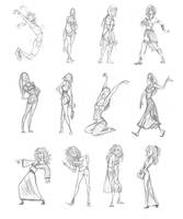 Hermione and other poses by Azalea-Jones