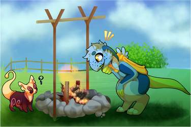 [MP: Lore Prompt] Calinth in the Cookfire by Kid--Stardust