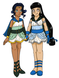 Cronus and Rhea by incatibelle