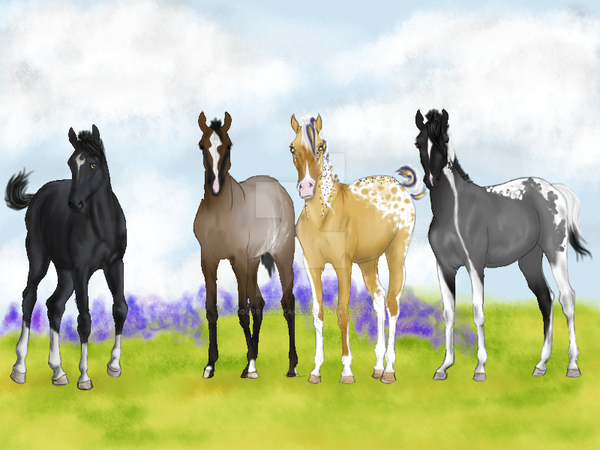 Flowering Foals by Moved-Account