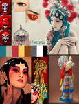 Mood Board Chinese Opera by V-Clouve