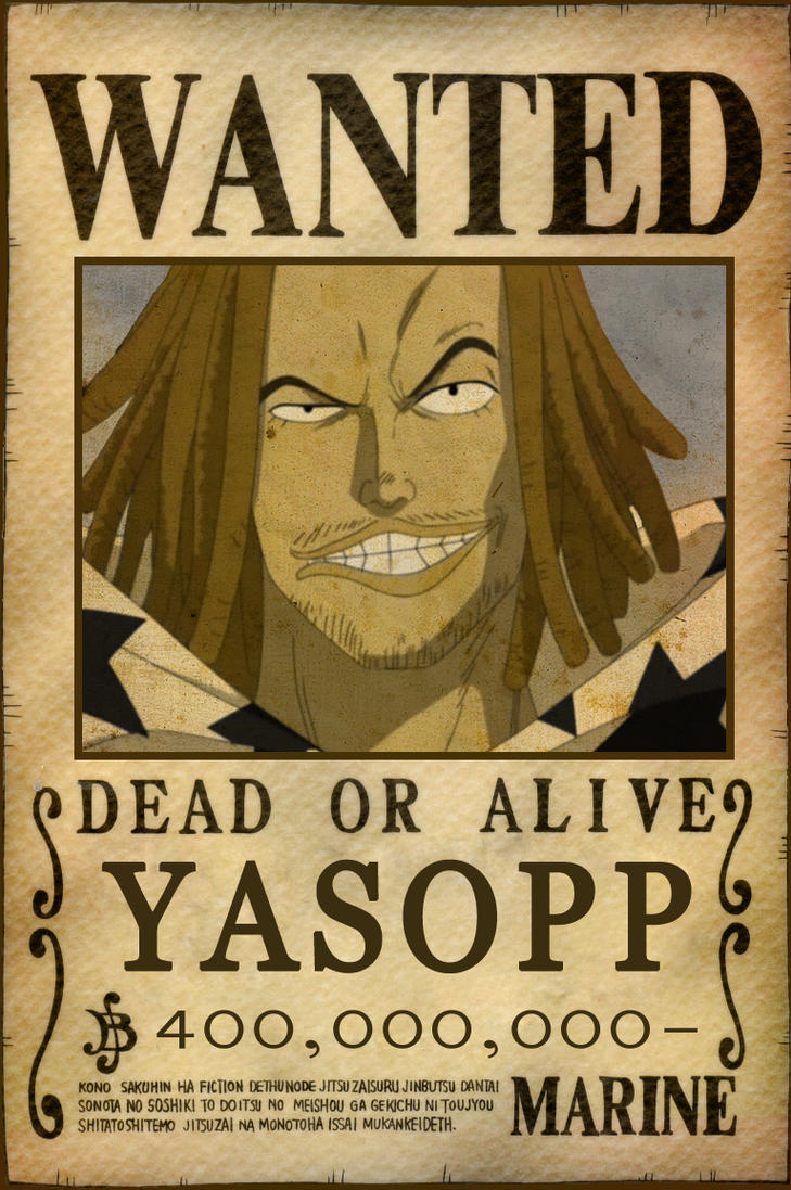 One Piece Wanted Poster Whitebeard