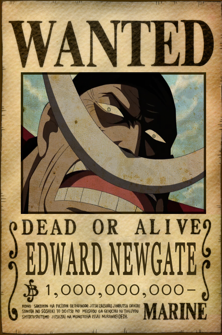 blackbeard wanted poster one piece. Black Bedroom Furniture Sets. Home Design Ideas