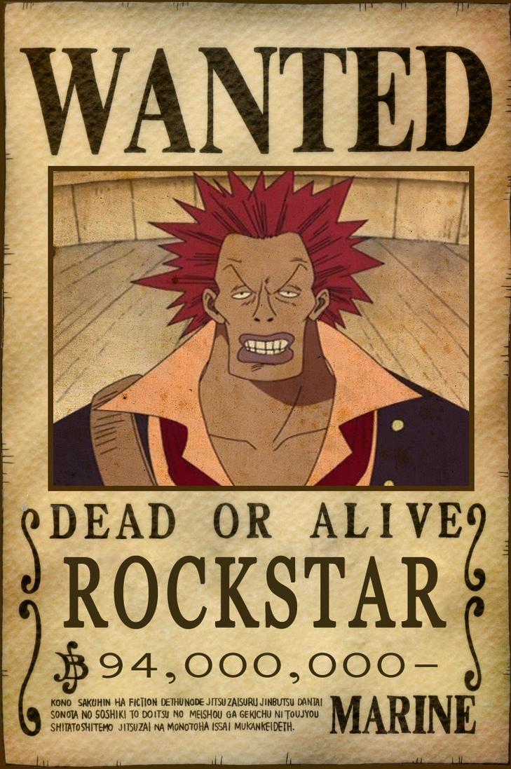 Rockstar bounty by animegalaxyhd on deviantart - Affiche wanted one piece ...