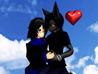 MMD-me and spike by SpikerKiara