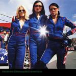 Charlies Angels Racing suits by JamieCloughComics