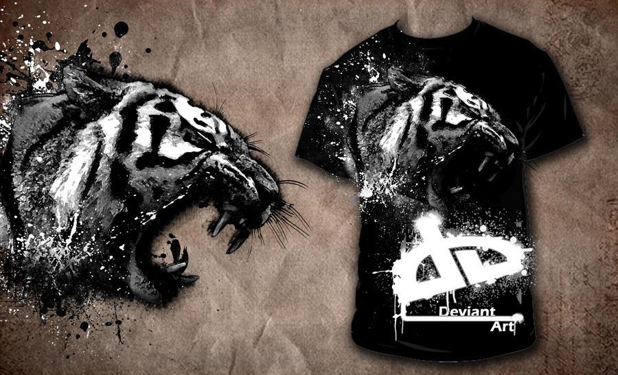 tiger deviantart shirt by JJR8989