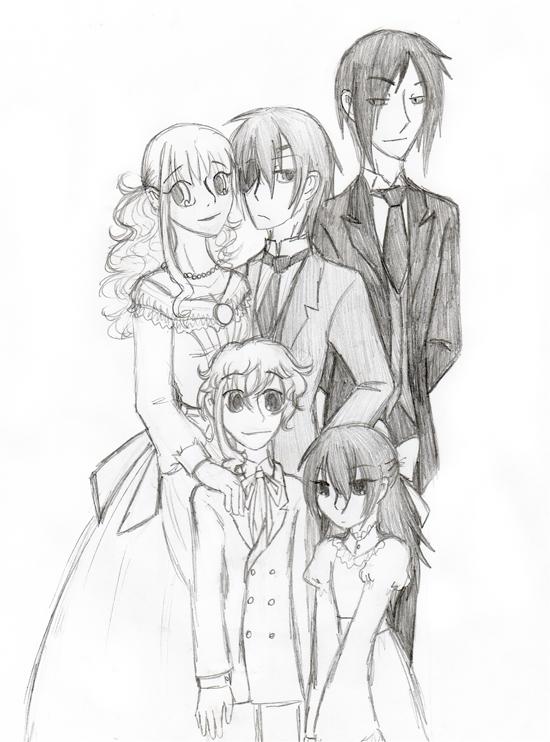 Kuroshitsuji- Family portrait by o0whitelily0o on DeviantArt