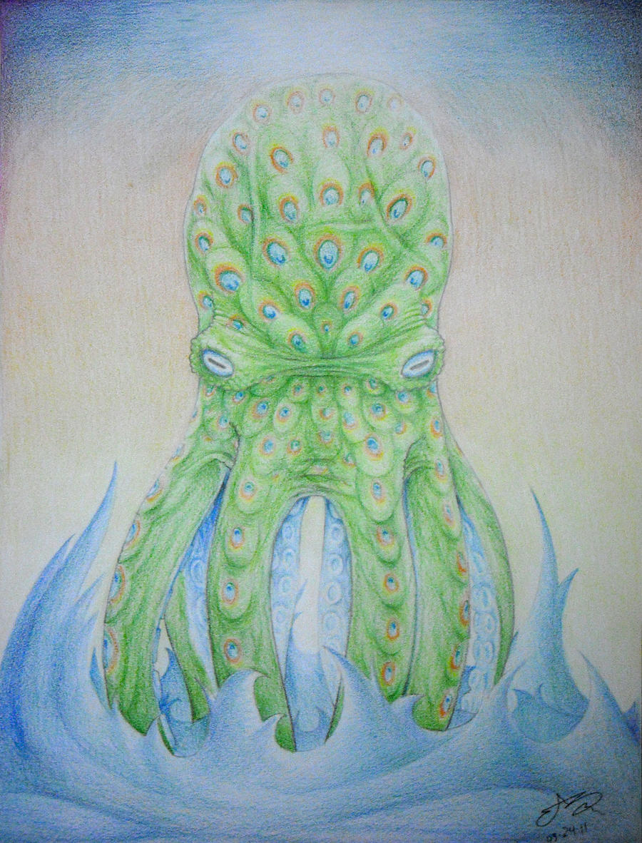 PEACOCTOPUS by SHARK-E