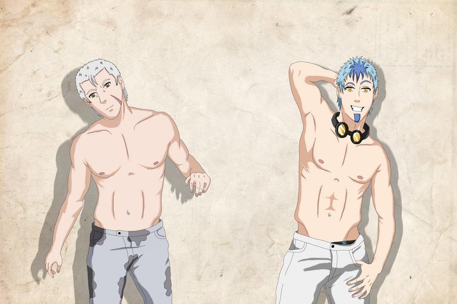 Ryu_and_Iori_Fanservice__by_tobikun23