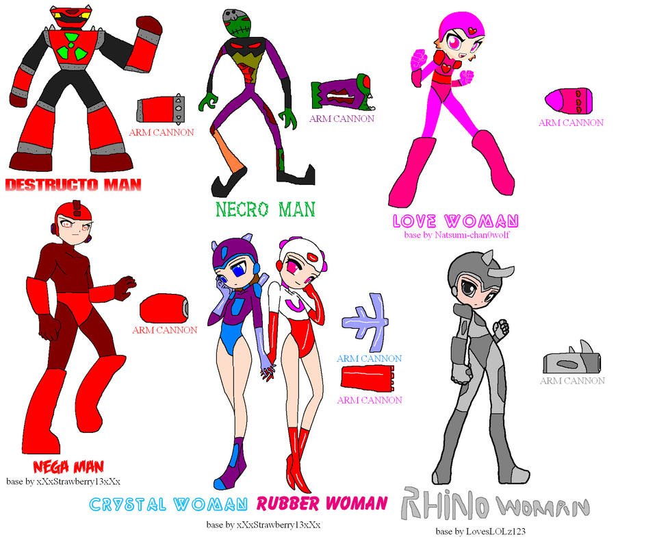 My Robot Masters By Nickmaster64 On Deviantart