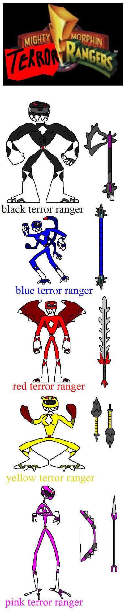 mighty morphin TERROR rangers by NickMaster64