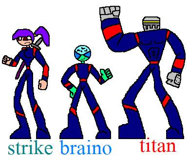 superhero team the power trio by NickMaster64