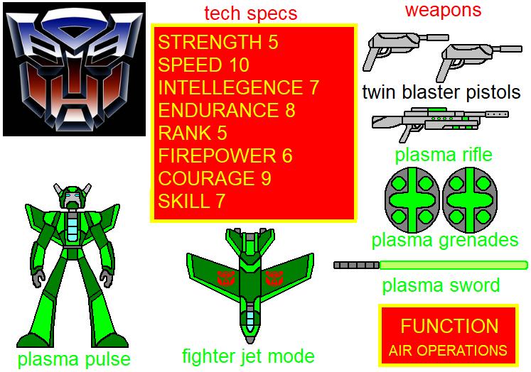 transformers oc plasma pulse new bio