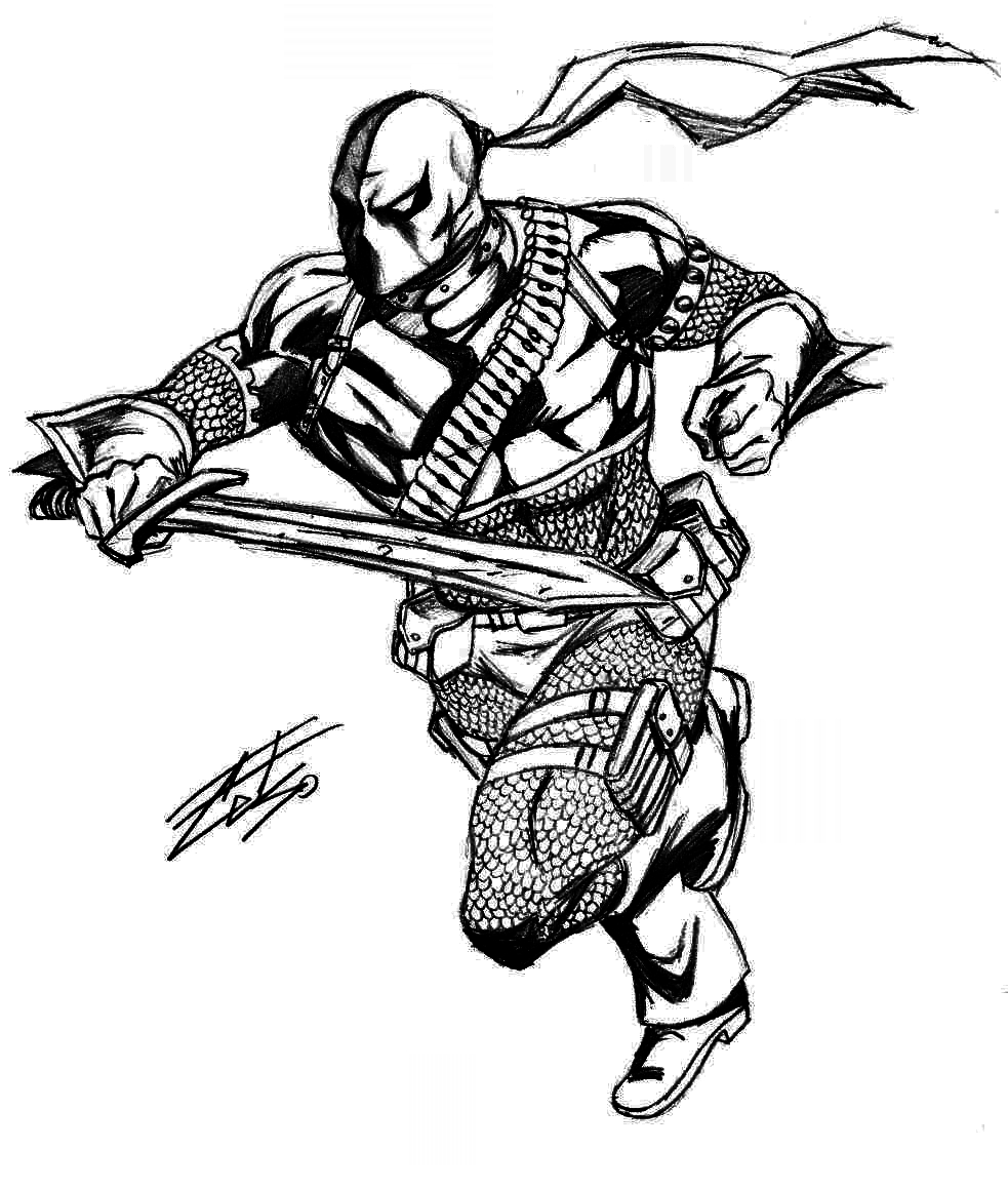 coloring pages of deathstroke costume   Deathstroke's assault by celsohenrique on DeviantArt