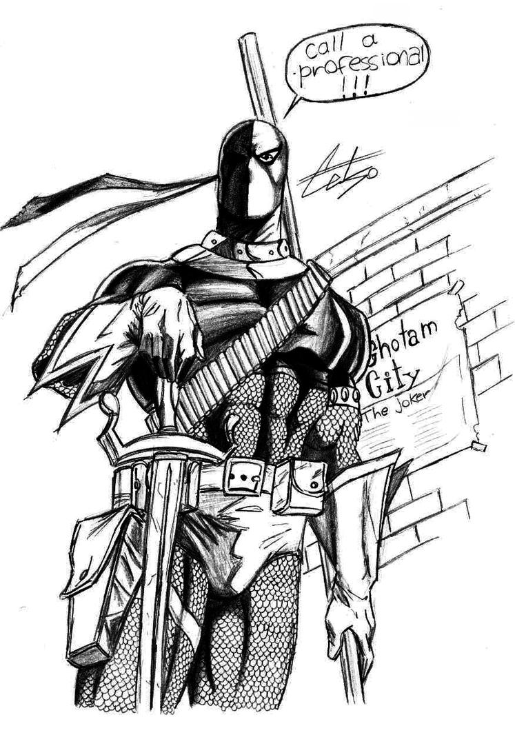 terminator coloring pages - slade the terminator deathstroke by celsohenrique on