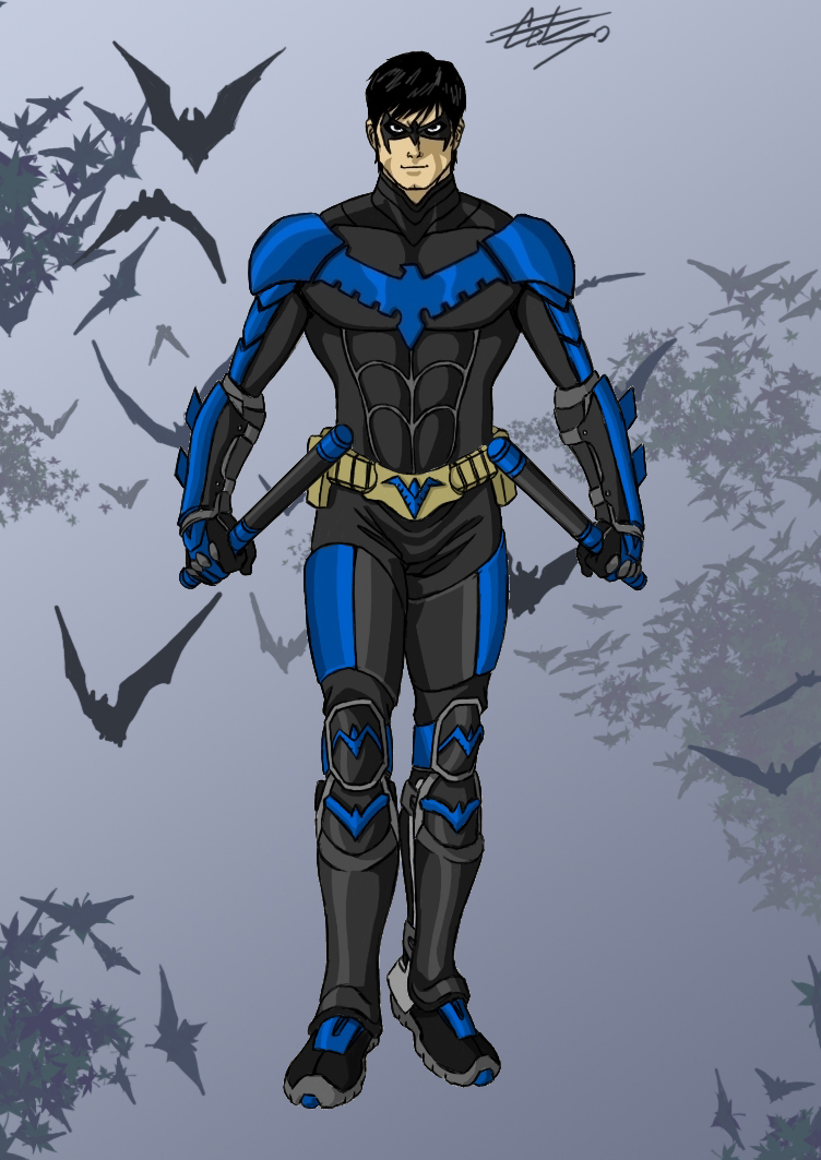 how to draw dick grayson