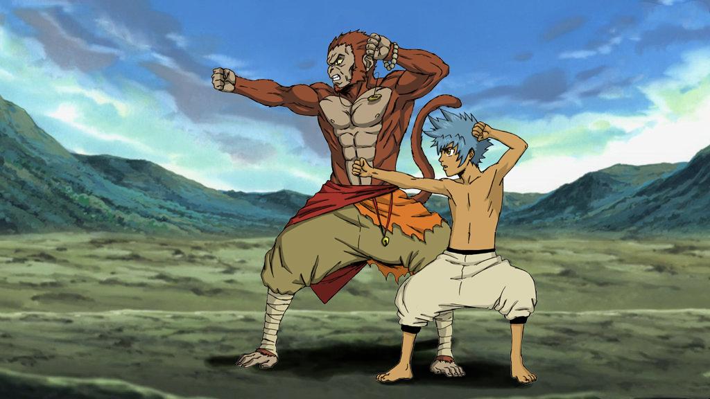 Kiiromaru and Sun Wukong Training