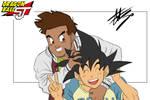 Goku and Puck - Dragon Ball Shin Jidai