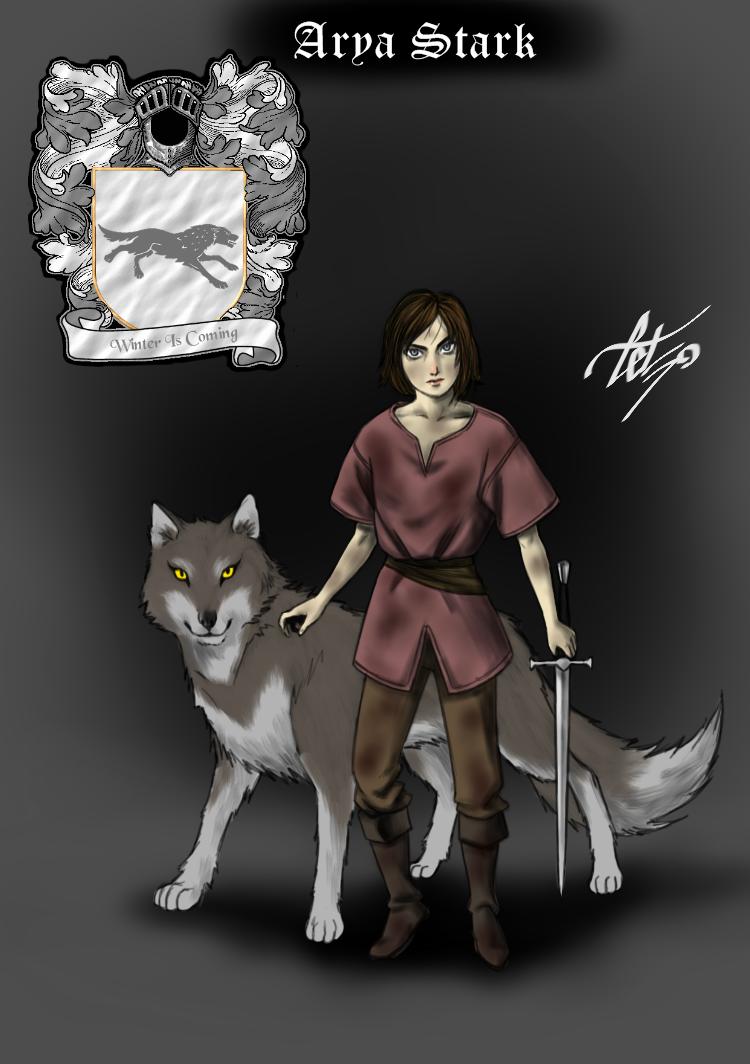 Arya Stark - A gata dos canais by celsohenrique